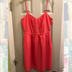 NWOT JCREW Bright Pink Cami Dress - with Pockets